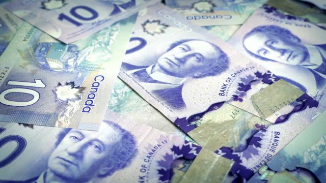 Canadian Ten Dollar Banknotes Rotating video