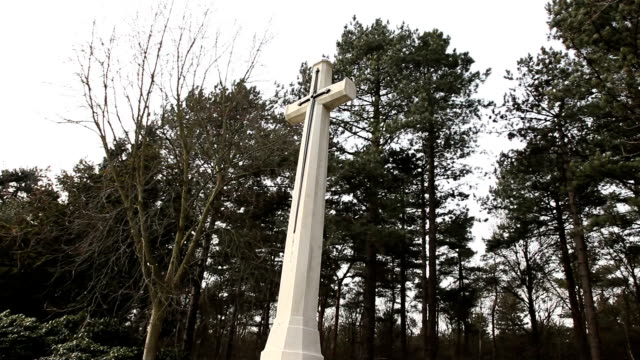 Canadian War Cemetery-cross and sword statue video