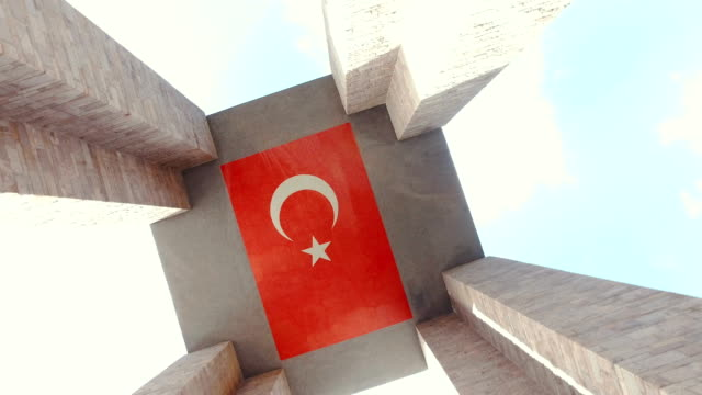 Canakkale martyrs memorial. 4K. Canakkale martyrs memorial in Gallipoli Turkey in the memory of those who lost their lives in 1915 during the World War One battles between Turkish and British troops. çanakkale province stock videos & royalty-free footage