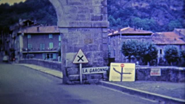 GARONNE, FRANCE -1969: Canal de Garonne river bridge looks brand new.