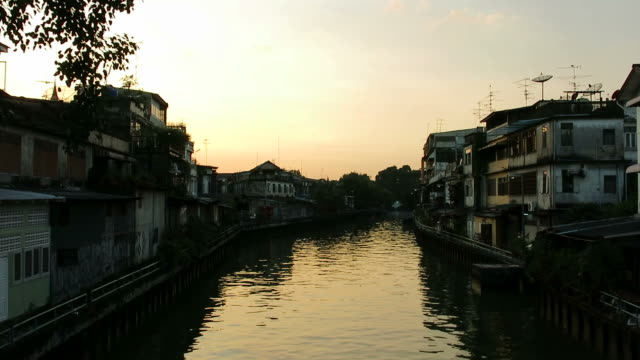 Canal in Bangkok video