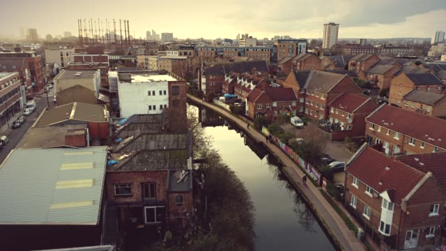 canal in hackney, london - england stock videos & royalty-free footage