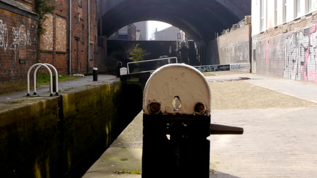 canal lock - tracking shot - victorian architecture stock videos & royalty-free footage