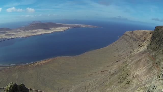 Canarian islands landscape view with sea video