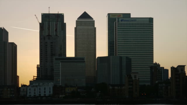 Canary Wharf timelapse HD video London video
