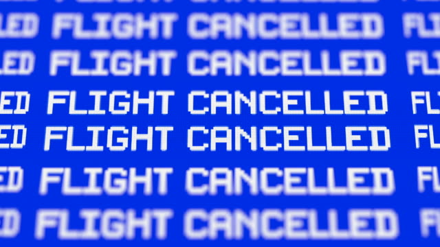 cancelled flights - business travel stock videos and b-roll footage