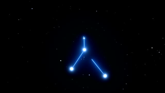 Cancer Constellation on a Beautiful Starry Night Background video