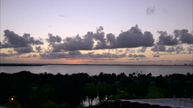 Cancun lagoon at sunset video