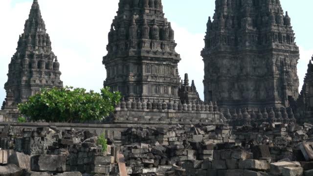 Candi Prambanan or Candi Rara Jonggrang Candi Prambanan or Candi Rara Jonggrang is a 9th-century Hindu temple compound in Central Java, Indonesia.4K 3840x2160 indonesia stock videos & royalty-free footage