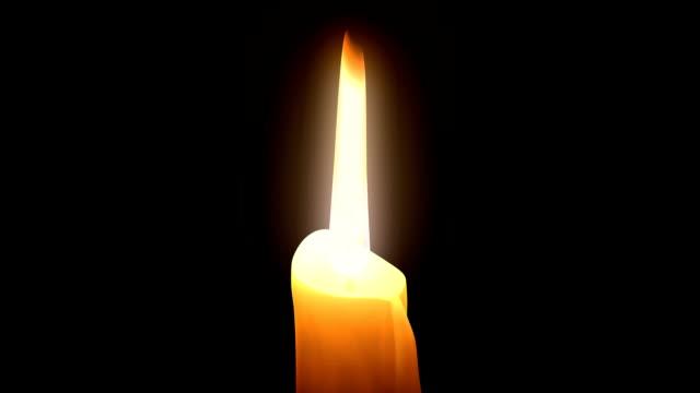 candela burning. anello. cg. - un singolo oggetto video stock e b–roll
