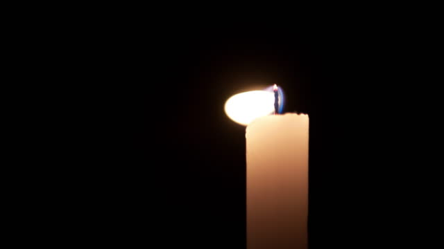 4K: Candle flame goes out video