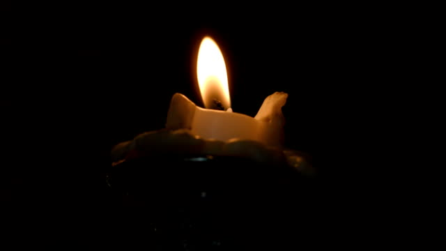 Candle Flickering And Then Going Out video