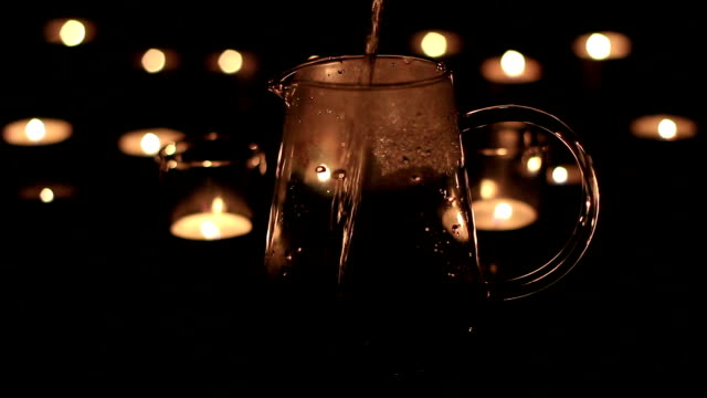 candle light and water video