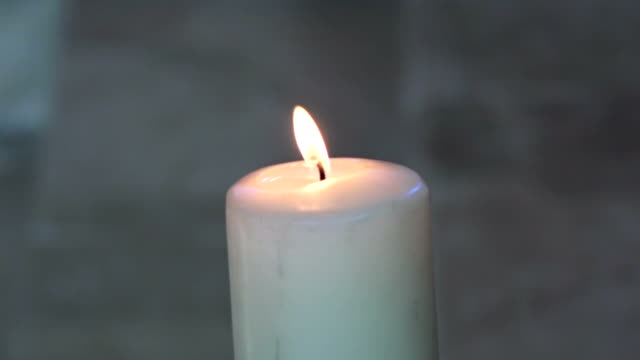 candle light in a church video