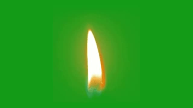 Candle light motion graphics with green screen background