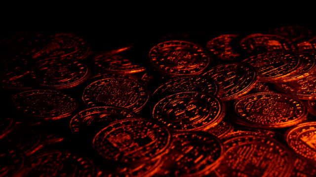 Candle Light On Gold Coins Pirate Treasure video