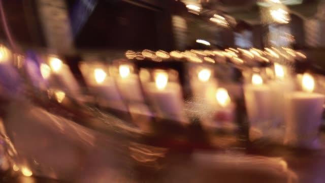 Luzes de vela na recepção evento - vídeo