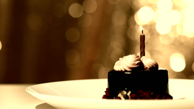Candle on birthday cake video