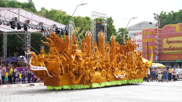 Candle Parade in Buddha Day, Thailand Traditional Festival