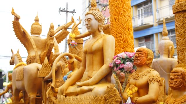 Candle Parade in Buddha Day, Thailand