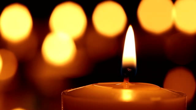 Candle Candle and beautiful bokeh candle stock videos & royalty-free footage