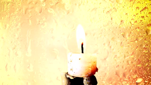 Candle With Flame Close up of Candles with glowing flames sri lankan culture stock videos & royalty-free footage