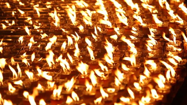 Candlelight  beautiful night. video