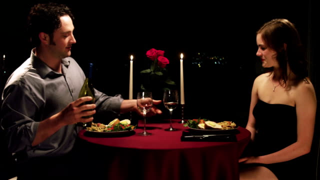 Candlelight dinner video