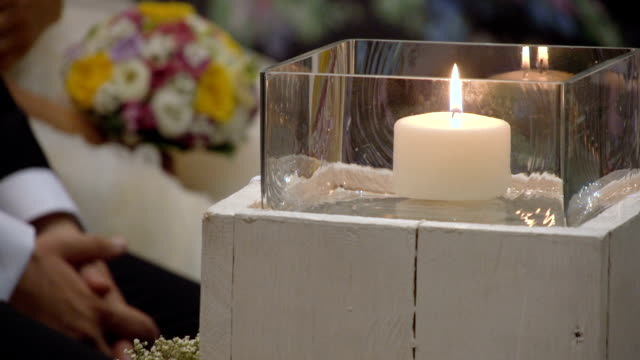 Candles and flowers video