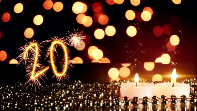 candles and lights 2016 new year celebration last 10s loop video