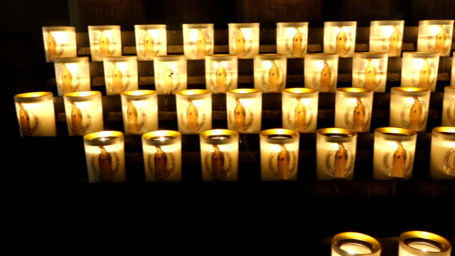 candles at church video