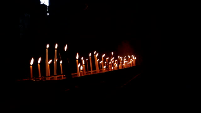 Candles At The Church Of The Holy Sepulchre video