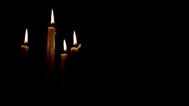 stockvideo's en b-roll-footage met kaarsen blazen tot geblazen - kandelaar