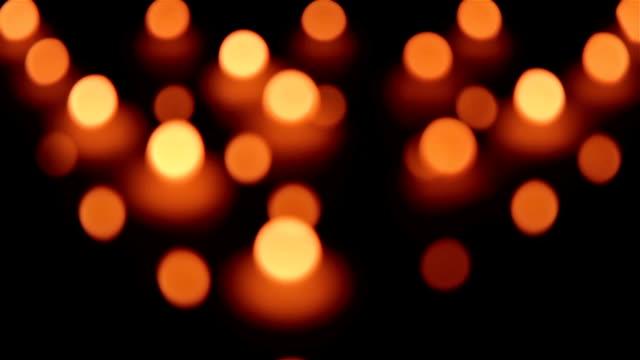 Candles. Follow focus shot. video