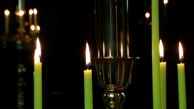 HD, NTSC: Candles in Orthodox church (video) video