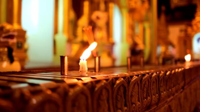 Candles in Shwedagon Pagoda video