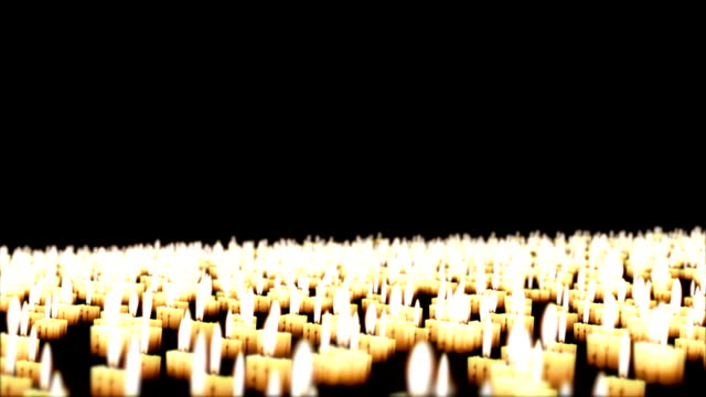 Candles in the night, Holiday Background, Camera Fly Over video