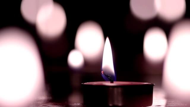 vídeos y material grabado en eventos de stock de velas luz seleccionar imágenes, vintage tono. - advent