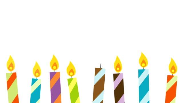 Bougies d'ambiance avec espace de copie & Alpha - Vidéo