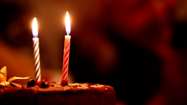 Candles On Birthday Cake Video