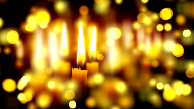 candles shallow depth with bokeh close video