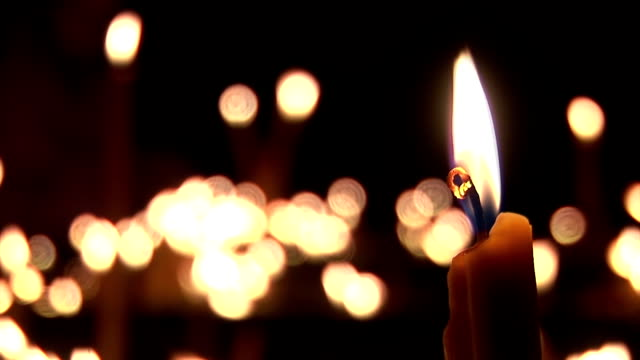 candles - candeliere video stock e b–roll