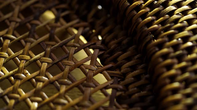 Cane or wickerwork background- showing the details of interlaced weave structure of basket