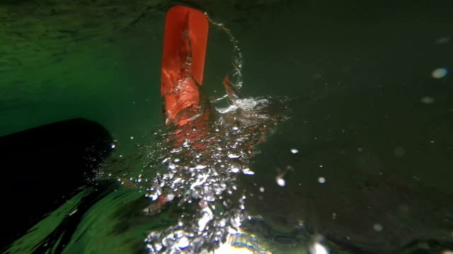 stockvideo's en b-roll-footage met caneoing / kayaking down the river - paddle