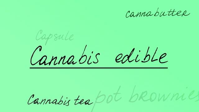 Cannabis edible. Animation on marijuana. hashish stock videos & royalty-free footage