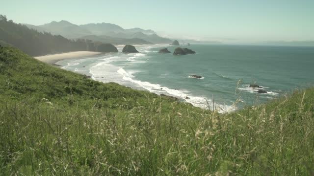 大炮海灘, 俄勒岡多莉射擊4k。uhd - 州立公園 個影片檔及 b 捲影像
