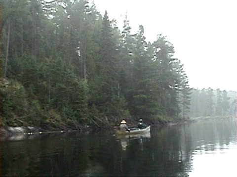 Canoeing Boundary Waters  02 Canoeing Boundary Waters in Minnesota padding stock videos & royalty-free footage