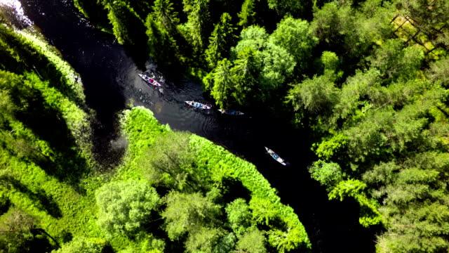 Du canoë dans la nature sauvage - Vidéo