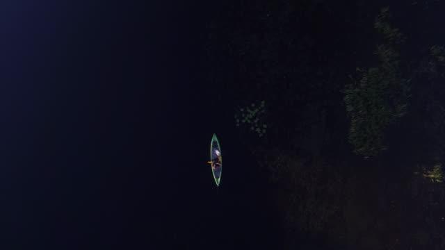 ペット犬と一緒に川でカヌー - パドルスポーツ点の映像素材/bロール