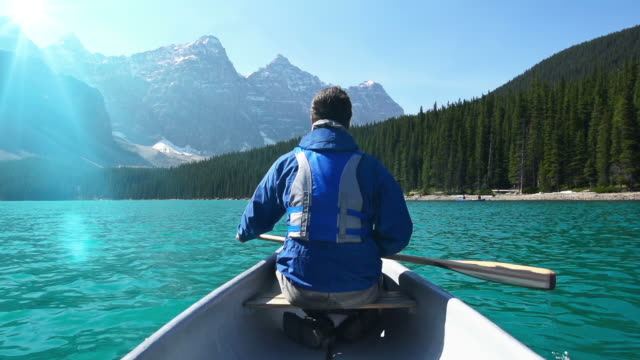 Canoeing on Mountain Lake #2 video